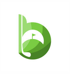 b golf logo vector image