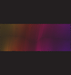 background with color abstract wave dots vector image