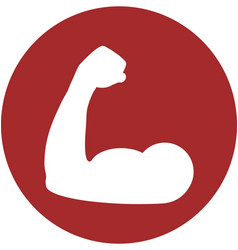 Bicep within a circle icon vector