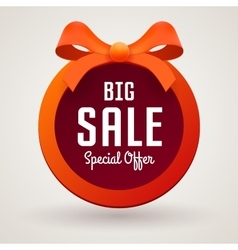 Big sale banner on white background vector
