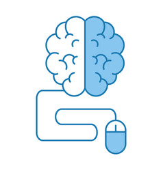 brain with mouse vector image