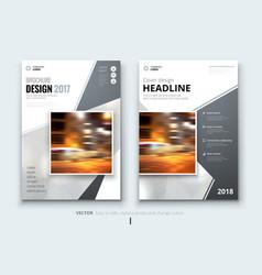 Business brochure or flyer design leaflet vector