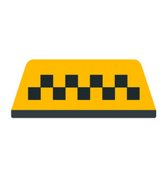 Checkered taxi beacon sign icon flat isolated vector