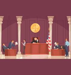 court session law composition vector image
