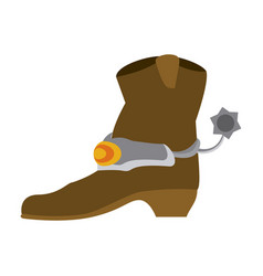 cowboy boot isolated vector image