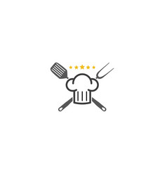 creative chef spatula logo design symbol vector image