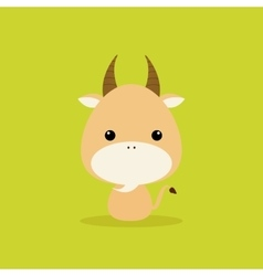 Cute Cartoon Wild goat vector image