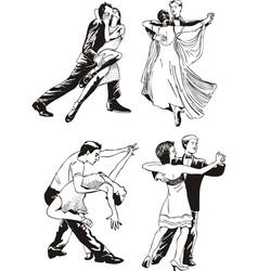 Dancing couples vector