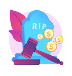 Death grant abstract concept vector