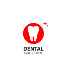 Dental logo template design vector