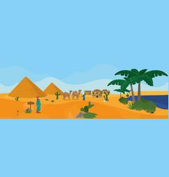 Egyptian pyramids landscape vector