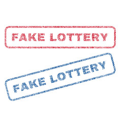 fake lottery textile stamps vector image