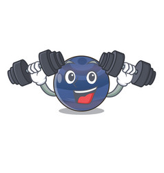 Fitness planet neptune in the shape character vector