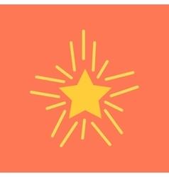 Flat icon on stylish background poker star vector