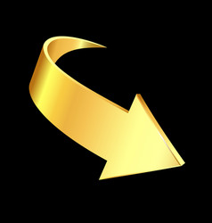 gold arrow business concept vector image
