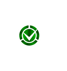 green check mark logo designs inspiration vector image