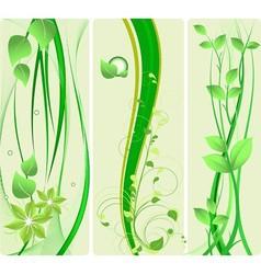 green design set vector image