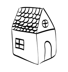 Home with window design Sketch icon vector