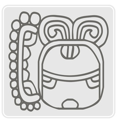 Icon with glyphs maya night lord vector