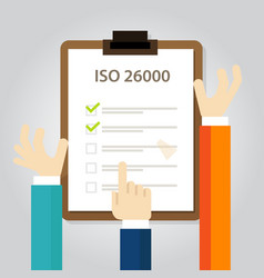 iso 26000 social responsibility standards business vector image