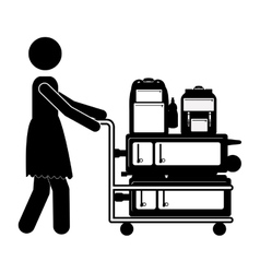 Isolated passanger and baggage design vector