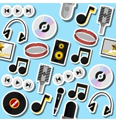 karaoke flat collage vector image