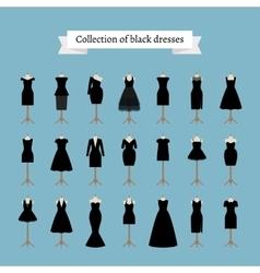 Little black dresses vector