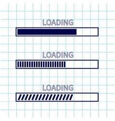 Loading progress status bar icon set web design vector