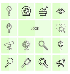 Look icons vector