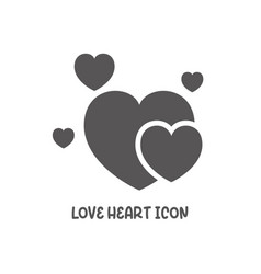 love heart icon simple flat style vector image