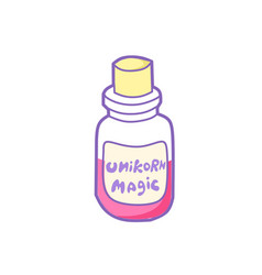 magical potion from horn of unicorn fantastic vector image