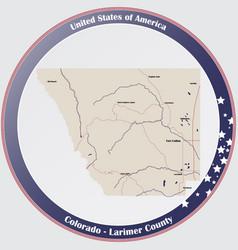 Map larimer county in colorado vector