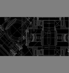 mechanical engineering drawing engineering vector image