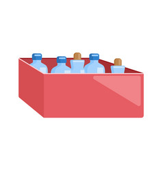 medicine box in flat style different bottle vector image