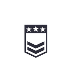 military rank badge vector image