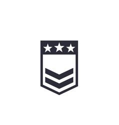 Military rank badge vector