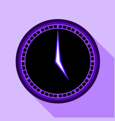 modern clock icon flat style vector image