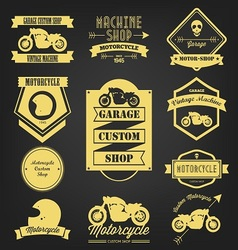 Motorcycle premium vintage label vector