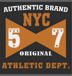 new york brooklyn sport wear typography emblem vector image