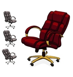 Office executive leather desk chair vector
