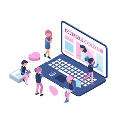 online doctor concept internet medical vector image