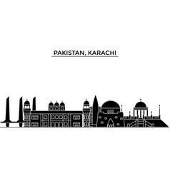 Pakistan karachi architecture city skyline vector