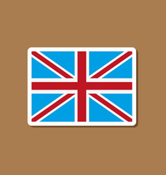 Paper sticker on stylish background britain flag vector