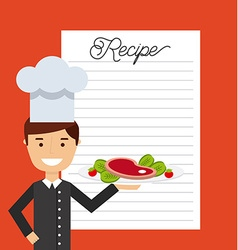 people cooking design vector image
