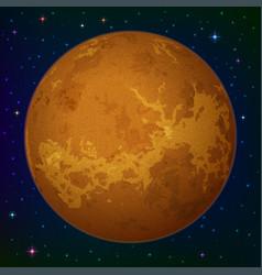 Planet venus in space vector
