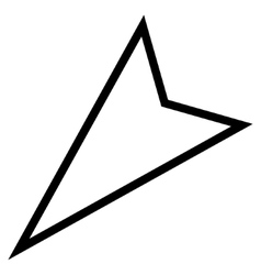 Pointer Left Down Stroke Icon vector