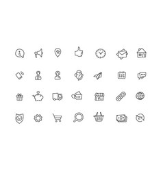 Popular icons sketch set outline line drawing by vector