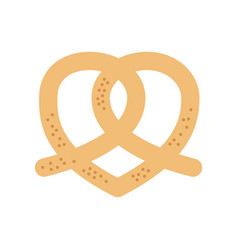 pretzel bakery pastry product food fresh vector image