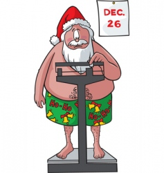 Santa on scales vector image
