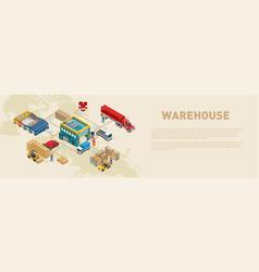 Scheme of work in warehouse vector